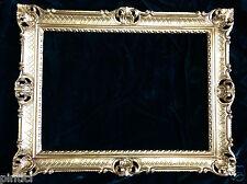 bilderrahmen70x90 cornice barocco rettangolare antico decorazione oro foto