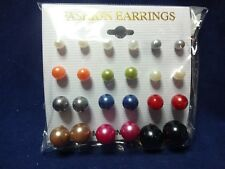 Earrings Containing 12 Cards Of 12 Pairs Bulk Lot Of Post Style Faux Pearl