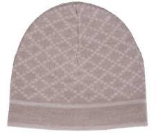 NEW Gucci Men's 281600 100% Wool Diamante Camel Beige Beanie Skull Ski Hat