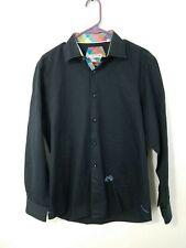 Men's John Lennon Long Sleeve Button Down Shirt Black Size Large