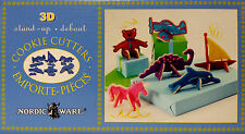 New NORDIC WARE 3D Cookie Cutter Set,Stand-up Dinosaur,Unicorn,Dolphin,Bear,Boat