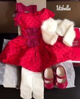 American Girl Doll Maryellen's Christmas Party Outfit Dress Accessories NEW