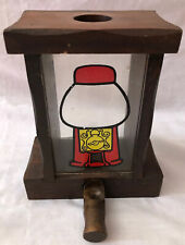 Candy Gumball Peanuts Vending Dispenser Machine Wood Glass Vintage Antique