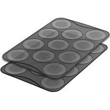 Mastrad of Paris Set of 2 Large Macaron Silicone Baking Sheets 11 Ridges F45614