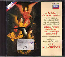 BACH Cantata BWV 80 140 Fontana Winbergh Hamari Tom Krause KARL MÜNCHINGER CD