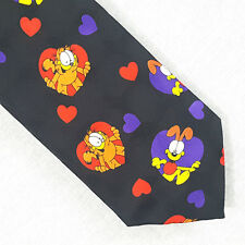 Garfield Odie Valentines Day Hearts Polyester Neck Tie by Keith Daniels