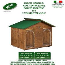 Cucce per cane cuccia in legno XXXL EXTRA LARGE DOPPIO INGRESSO porta 2 due cani