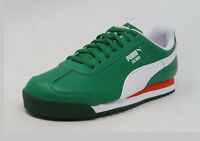 cdcdfdc6898 PUMA Roma Basic Jr Green White Red Lace Up Fashion Youth Boy Sneakers Kid  Shoes