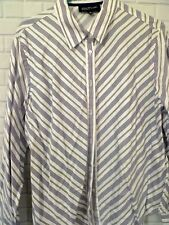 Womens XL Jones New York Signature Cotton Blouse Button Long Sleeve striped