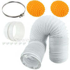 400cm Vent Hose Extension Pipe & Softener Balls for FAGOR Tumble Dryer