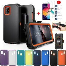 For Samsung Galaxy A10e/A20S/A21 A51 Case+Tempered Glass+Belt Clip Fits Otterbox