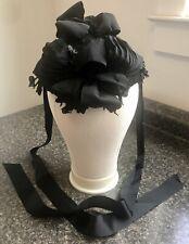 Antique Victorian Half Bonnet Mourning  Frontal Head Dress Authentic Hat Ladies