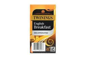 Twinings English Breakfast Decaf 20 Enveloped Teabags