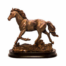Classic Walking horse bronze animal figurine great for fathers and horse lovers