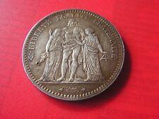 belle piece en argent   5 francs  1873  A