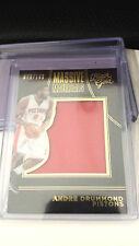 2015-16 Panini Black Gold ANDRE DRUMMOND MASSIVE MATERIALS GAME USED 079/199
