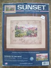 Dimensions Sunset WINDOW TO THE WEST Counted Cross Stitch Kit #13700 NIP