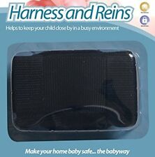 Walking Harness & Reins -- For Baby, Toddler or Kids -- Age: 6 m+- Colour: Black