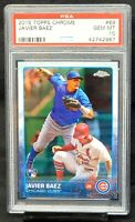 2015 Topps Chrome Cubs JAVIER BAEZ Rookie Baseball Card PSA 10 GEM MINT Pop 400