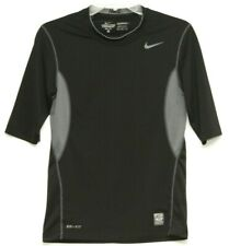 Nike Mens Pro Combat Dri Fit Compression Black Athletic Top Size Medium