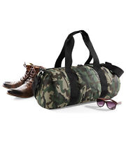 Bagbase Camo Barrel Bags Military Army Holdall Backpack Gym Sports Travel Bags