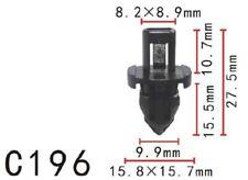 20Pcs Nylon Fastener Rivet Retainer Clip Bumper Fit Honda (15.9x14.5mm)