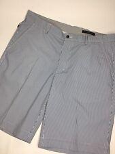 "Men's Greg Norman Flat Front Striped Stretch Golf Shorts •W36 L10"" *NWOT"
