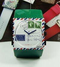 S.T.A.M.P.S. Uhr STAMPS AIRMAIL FOR YOU + Belta GREEN GRÜN