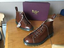DR MARTENS  LES boots 7 EYE tan boanil leather UK 6.5 EU 40 ska England church