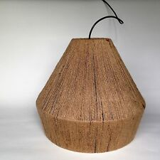 Rétro chaîne abat-jour Moderne Jute Style Pendentif Bungalow Lampe De Table Ou Lumière