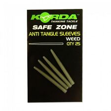 Korda Safe Zone Anti Tangle Sleeves - Weedy Green 25 PK