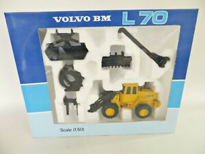JOAL 'VOLVO BM L70 WITH ATTACHMENTS' 1:50. MIB/BOXED. VOLVO DEALER PACKAGING