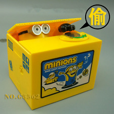 Kids Minions ME3 Coin Bank Moving Electronic Money Piggy Bank Box Gift