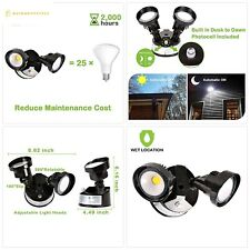 Hykolity 20W Dusk to Dawn LED Security Light, Outdoor Wall Mount Floodlight [150