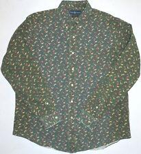 Mens XL Ralph Lauren Custom Fit Duck Hunting Retriever Dog Sleeve 35 LS Shirt