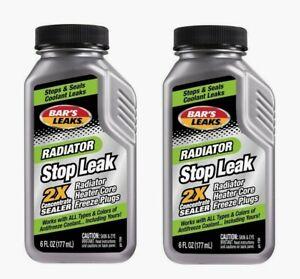 2pk Bar's Leaks Radiator STOP LEAK 6 oz Cooling System Sealer & Conditioner 1194