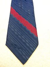Vintage Mens Tie 3.75 X 55 Blue With Red