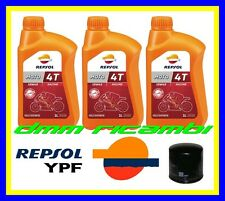 Kit Tagliando HONDA CBR 600 RR 09>10 Filtro Olio REPSOL RACING 10W40 2009 2010