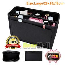 Large Felt Handbag Organizer Purse Insert Bag Fits Speedy 35 Never-full MM Black
