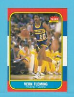 1986-87 Fleer Basketball Vern Fleming # 33 Indiana Pacers