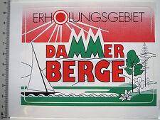 Adesivo sticker Dammer montagne-ripresa territorio-Bassa Sassonia-dorsale (513