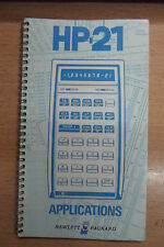 Calculatrice vintage pour Hewlett Packard HP-21 manuel applications calculator
