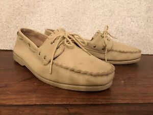 VINTAGE CITY STREETS TAN LEATHER LOAFERS•USA-Men 9.5 Boat Deck Dress Shoe Casual