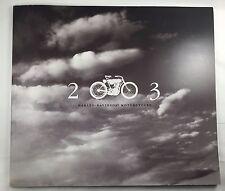HARLEY DAVIDSON 2003 100TH ANNIVERSARY BIKE BROCHURE NEW V ROD DYNA TOURING RARE