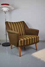 Mid Century Retro Danish Kurt Ostervig Model 54 Brown Wool Lounge Arm Chair 50s
