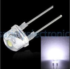 50PCS 8MM Straw Hat 0.5W LED Light Emitting Diode White LED High Power NEW