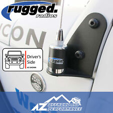 Rugged Radios Side Radio Antenna Mount for 1997-2018 Jeep Wrangler TJ / JK / JKU