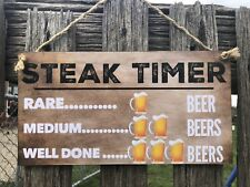 Wooden Sign plaque Country personalised Bar,GARAGE,Shed,Bedroom,Home decor  AU