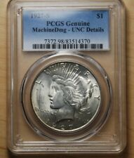 1927-S PCGS PEACE DOLLAR MS98 UNC DETAILS - VERY NICE COIN