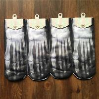 1 Paar Damen Herren Socken Aufdruck 3D Designer Schnitt Knöchel Schädel DE S9L1